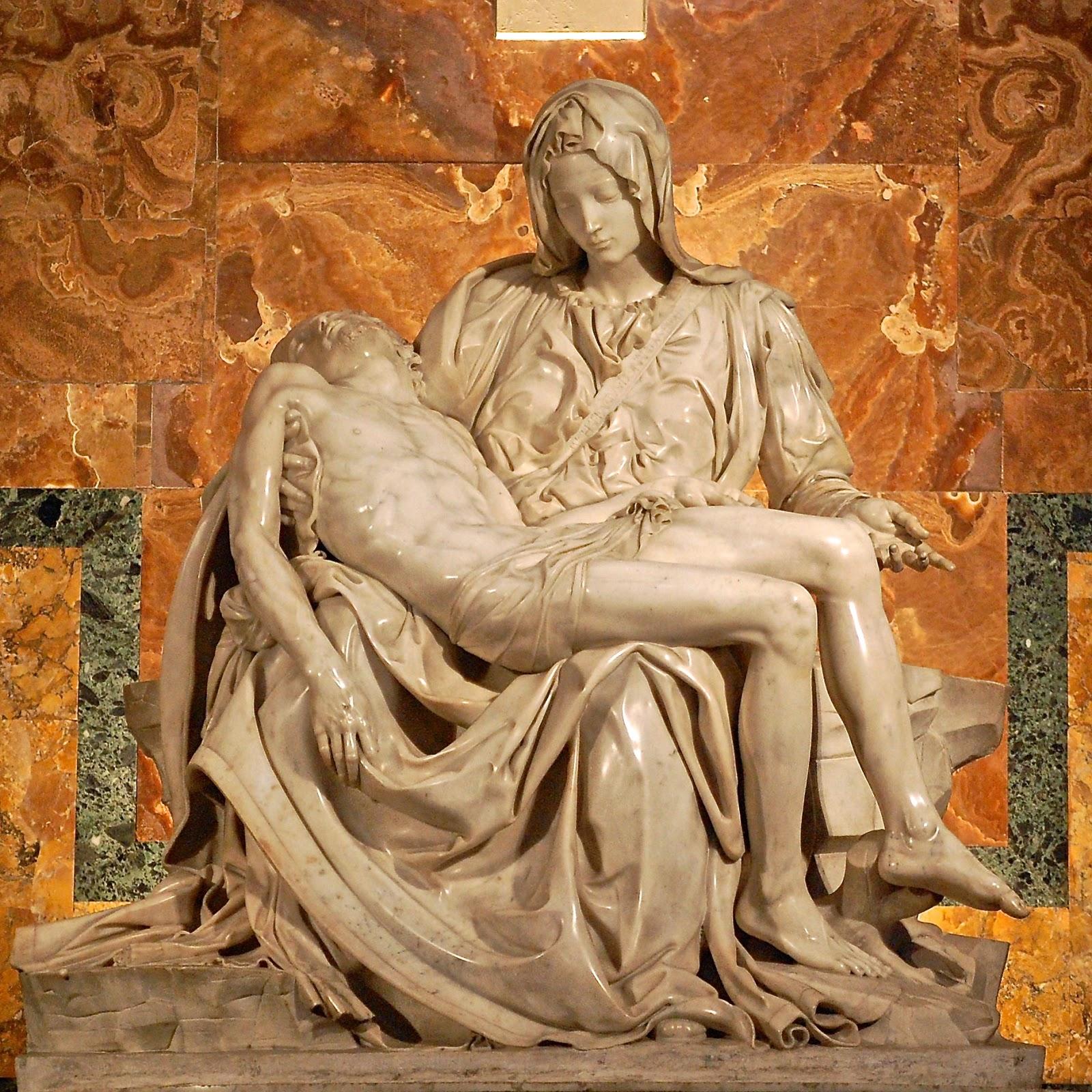 Michelangelo's Pietà in St. Peter's Basilica, Vatican City