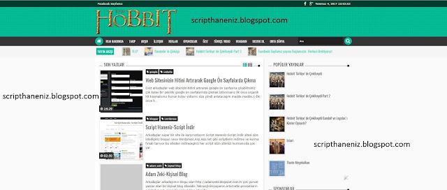 Blogger Hobbit Turkiye  Sitesinin Temasını İndir 2017