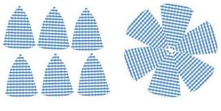 Bentuk Pola topi dan potongan kain