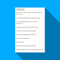 Cara Membuat Widget Artikel Terbaru Super Ringan di Blog