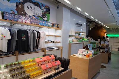 Inside Line Friends Store in Harajuku Shibuya Japan
