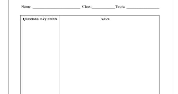 Best Of Cornell Notes Template Word: Classroom Freebies Too: Cornell Notes Template