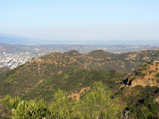 View east toward Mt. Chapel and Mt. Bell from Cahuenga Peak