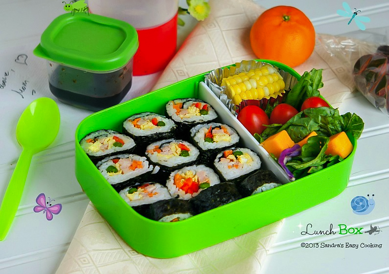 Homemade Simple Lunch Box: Kimbap