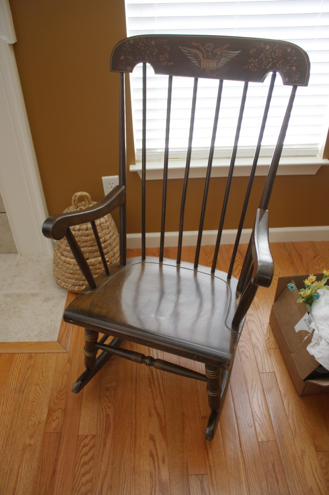 American Colonial Style Rocking Chair Before