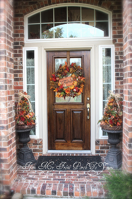 fall front porch decorations - photo #11