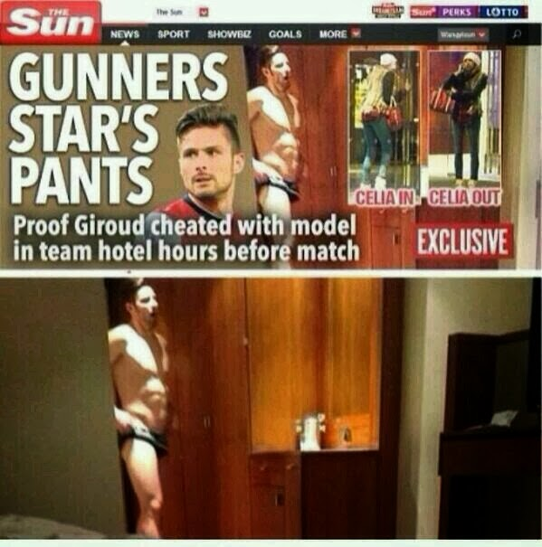 Arsenal striker Olivier Giroud admits he cheated on his wife with a glamour model, apologizes on Twitter