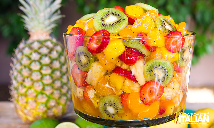 Best Ever Tropical Fruit Salad close up