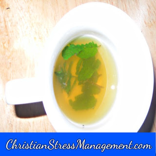 Peppermint tea for natural body wash