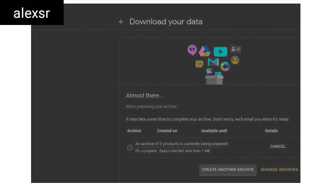 كيفية تنزيل بياناتك من Google+