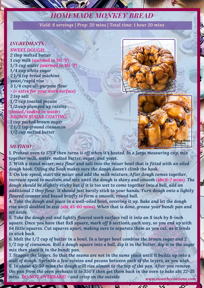 HOMEMADE MONKEY BREAD RECIPE
