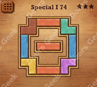 Cheats, Solutions, Walkthrough for Wood Block Puzzle Special I Level 74