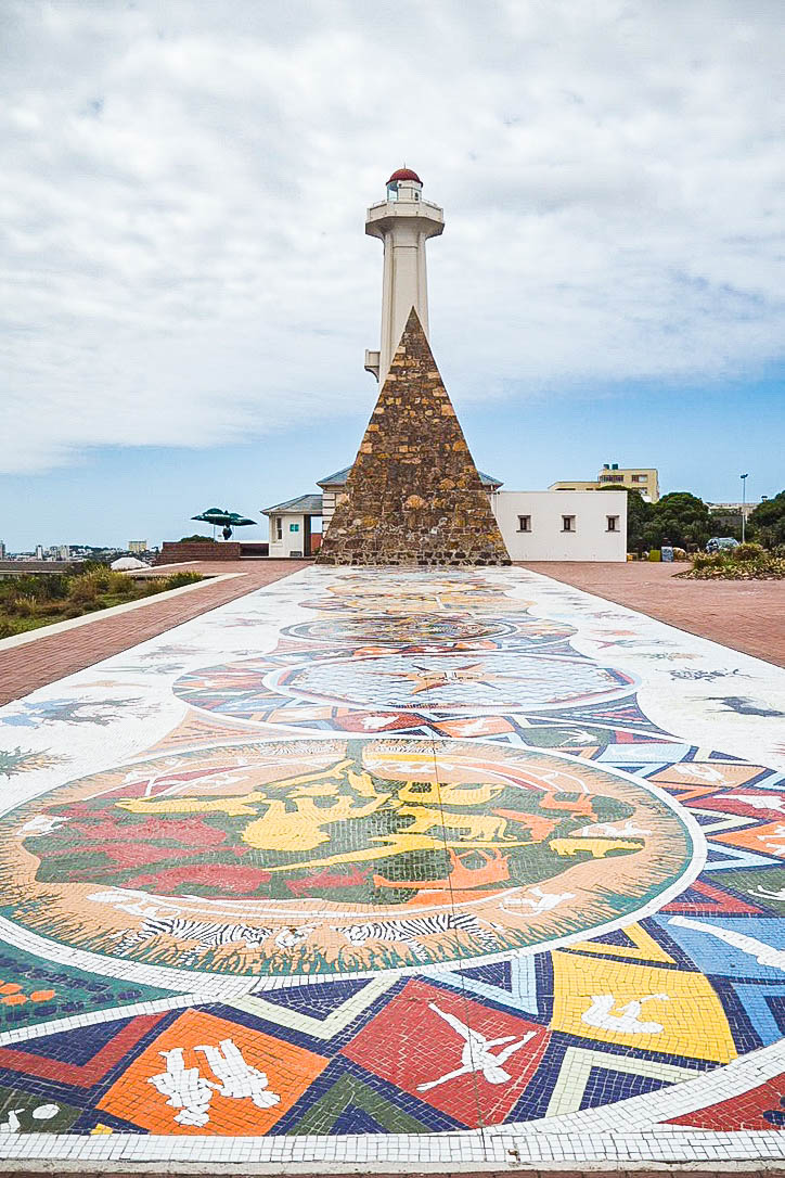 Lighthouse and mosaic floor, Port Elizabeth, South Africa