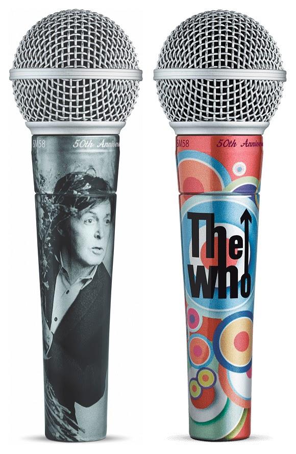 Paul McCartney et les Who signent dix micros SM58 pour des enchères