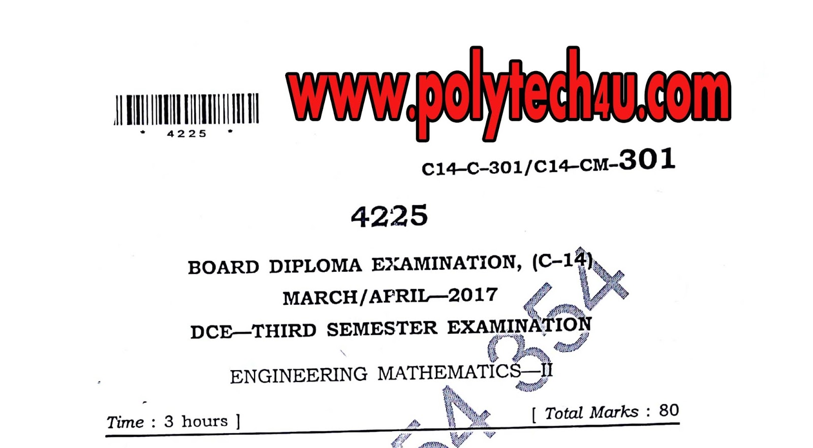 Polytechnic c 14 dce sbtetap maths 2 previous question paper march 301 engineering mathematics 2 malvernweather Image collections