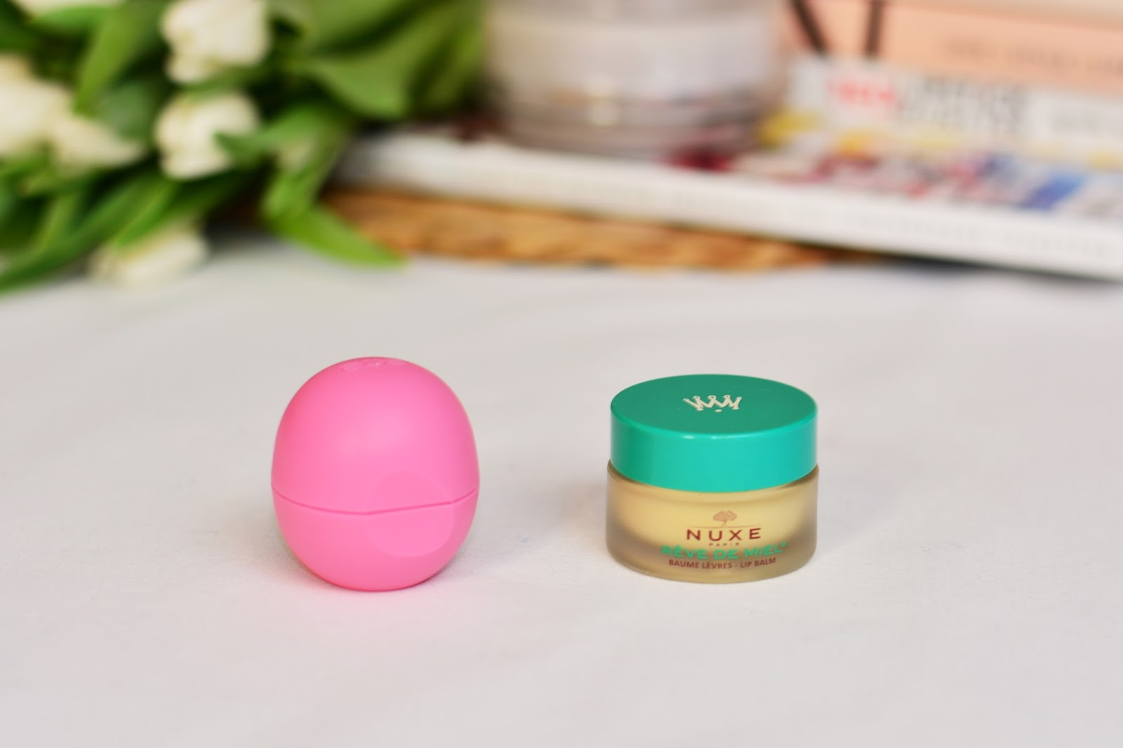 najlepsze pomadki do ust EOS Evolution of Smooth Organic Lip Balm NUXE Rêve de Miel