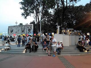 Taman Pandang Istana di kala senja
