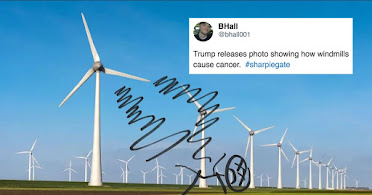 "Sharpie Art ! ""Windmills Cause Cancer"""