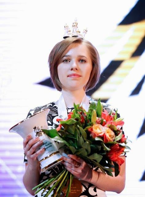 Mariya Muzychuk cuando se proclamó campeona del mundo en 2015