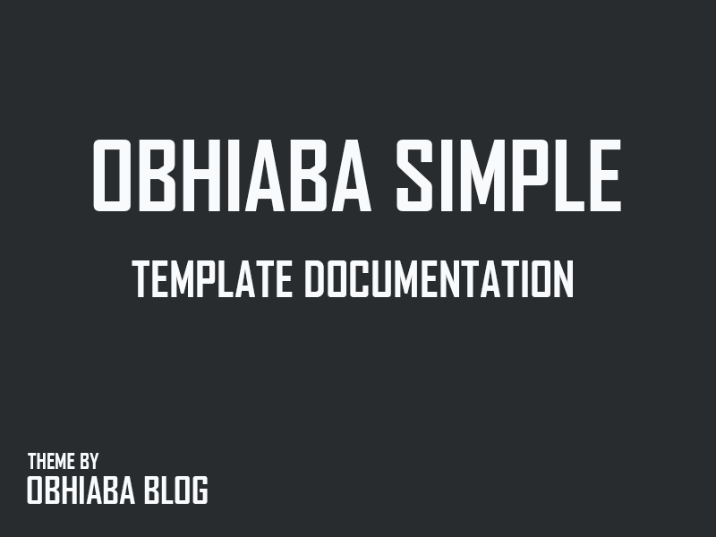 TEMPLATE DOCUMENTATION