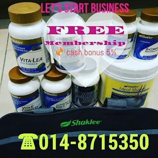 Mula bisnes tanpa modal; Shaklee Labuan; Jana pendapatan; Bisnes rendah risiko; shaklee; free membership Shaklee
