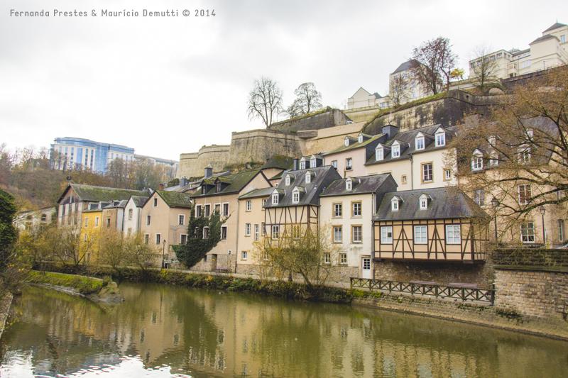 Rio Alzette Grund Luxemburgo