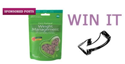 Catster is giving kitty cat owners the chance to enter once to win FOUR BAGS of Get Naked Cat Treats worth nearly $60 to keep your furbaby's weight in check!