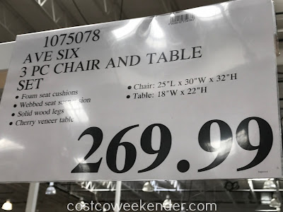 Deal for the Avenue Six 3-piece Fabric Chair and Accent Table Set at Costco