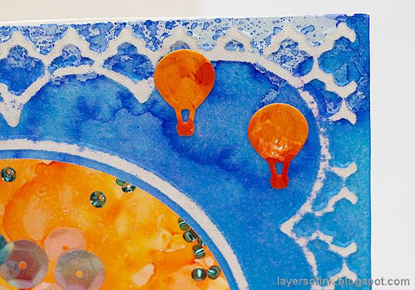 Layers of ink - Hot Air Balloon Shaker Card Tutorial by Anna-Karin Evaldsson.