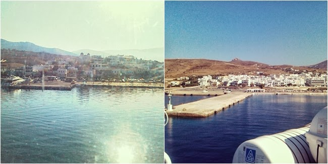 Andros port, Tinos port