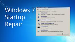 Atasi Startup Repair di Windows 7 Yang Berulang-Ulang