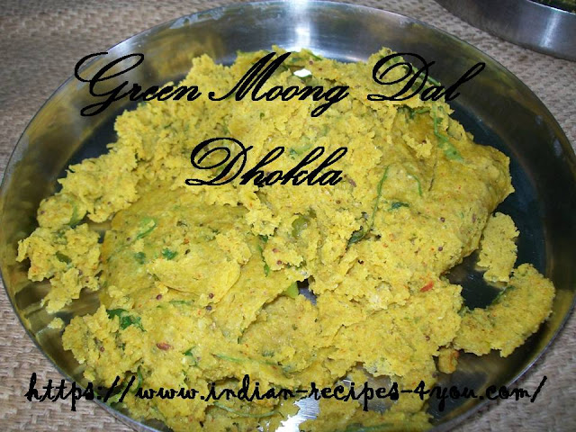 green moong dal dhokla
