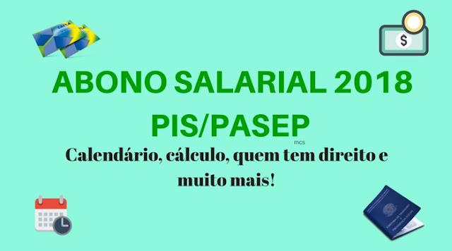 Abono Salarial 2018: PIS e PASEP