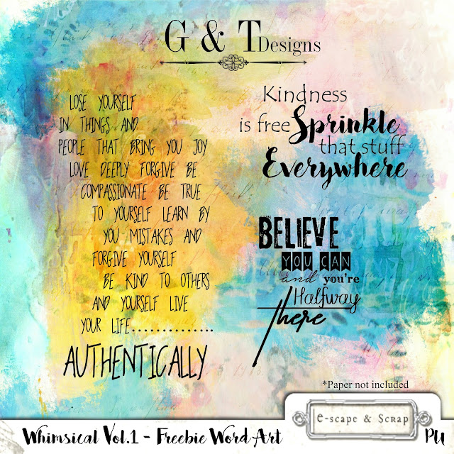 G&T Designs - New CU Papers, Whimsical Vol.1 & Freebies