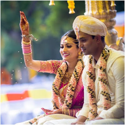 bride Deepika and Groom Sumanth