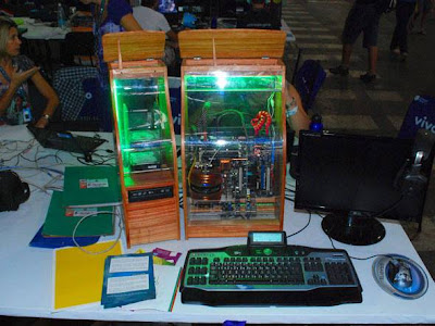 Computador verde no Campus Party Brasil 2012