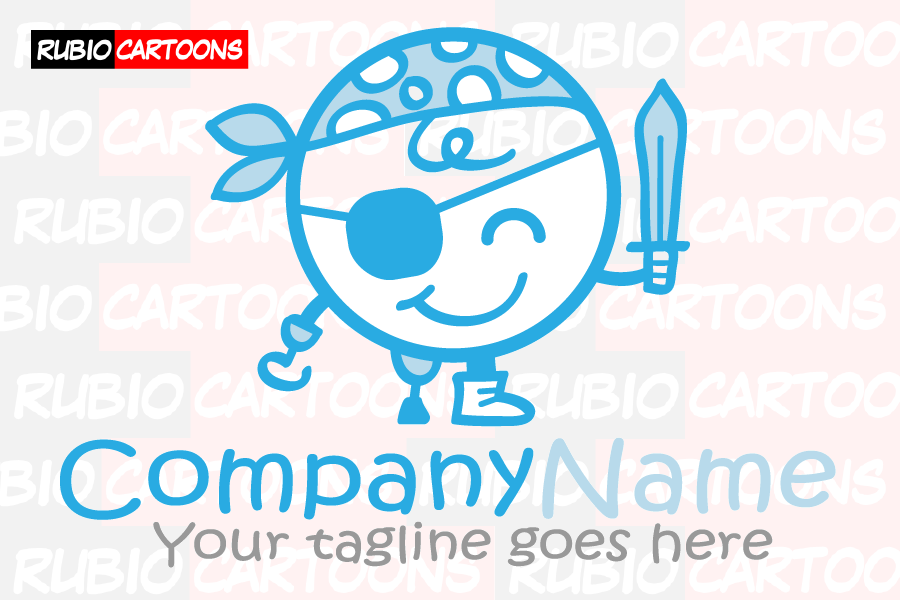 LOGOSTORE: CHILDISH LOGO OF FUNNY PIRATE