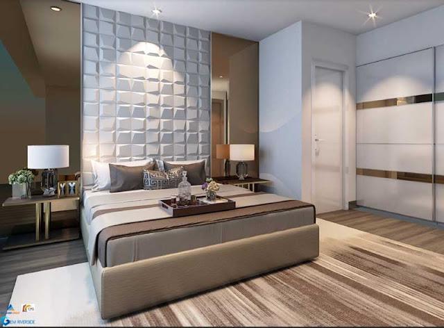 Phòng ngủ Master dành cho gia chủ căn hộ Gem Riverside quận 2