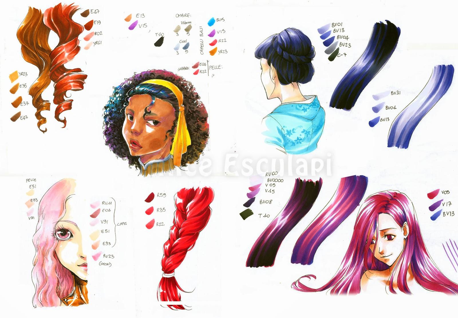 cheap huge selection of the best Copic Italia: Tutorial: come colorare i capelli in stile ...
