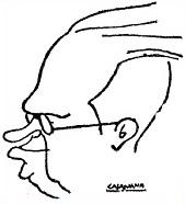 Caricatura de Alekhine