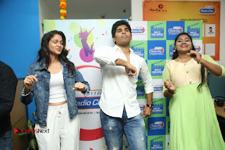 Allu Sirish Lavanya Tripathi Srirasthu Subhamasthu Promotions at Radio City  0074.JPG