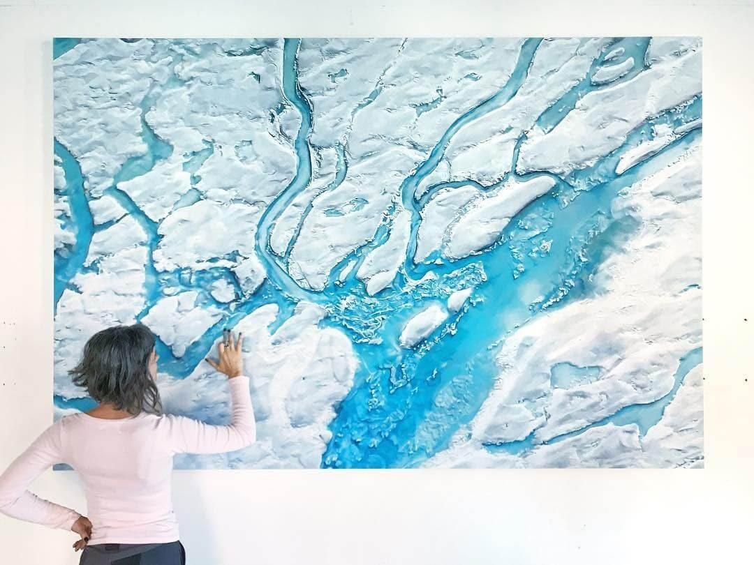 08-Hiawatha-Basin-Antarctica-Zaria-Forman-Ice-Snow-and-Water-Pastel-Drawings-www-designstack-co