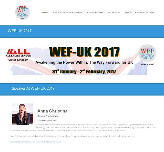 Anna-Christina Speaker at the Women Economic Forum 2017 page image