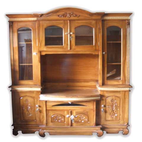 lemari buffet tv kayu jati