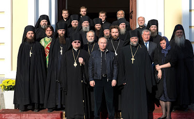 Russian President Vladimir Putin visit toKonevsky Monastery.