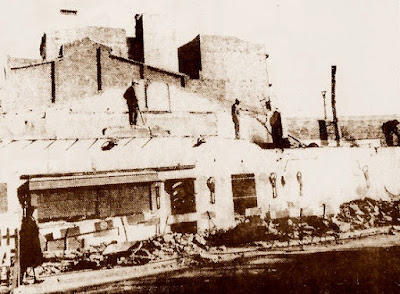 Momento de la demolición del Bar Granja, 1961