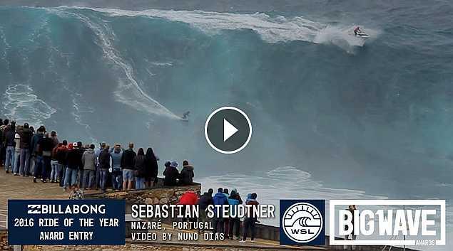 Sebastian Steudtner at Nazare - 2016 Billabong Ride of the Year Entry - WSL Big Wave Awards