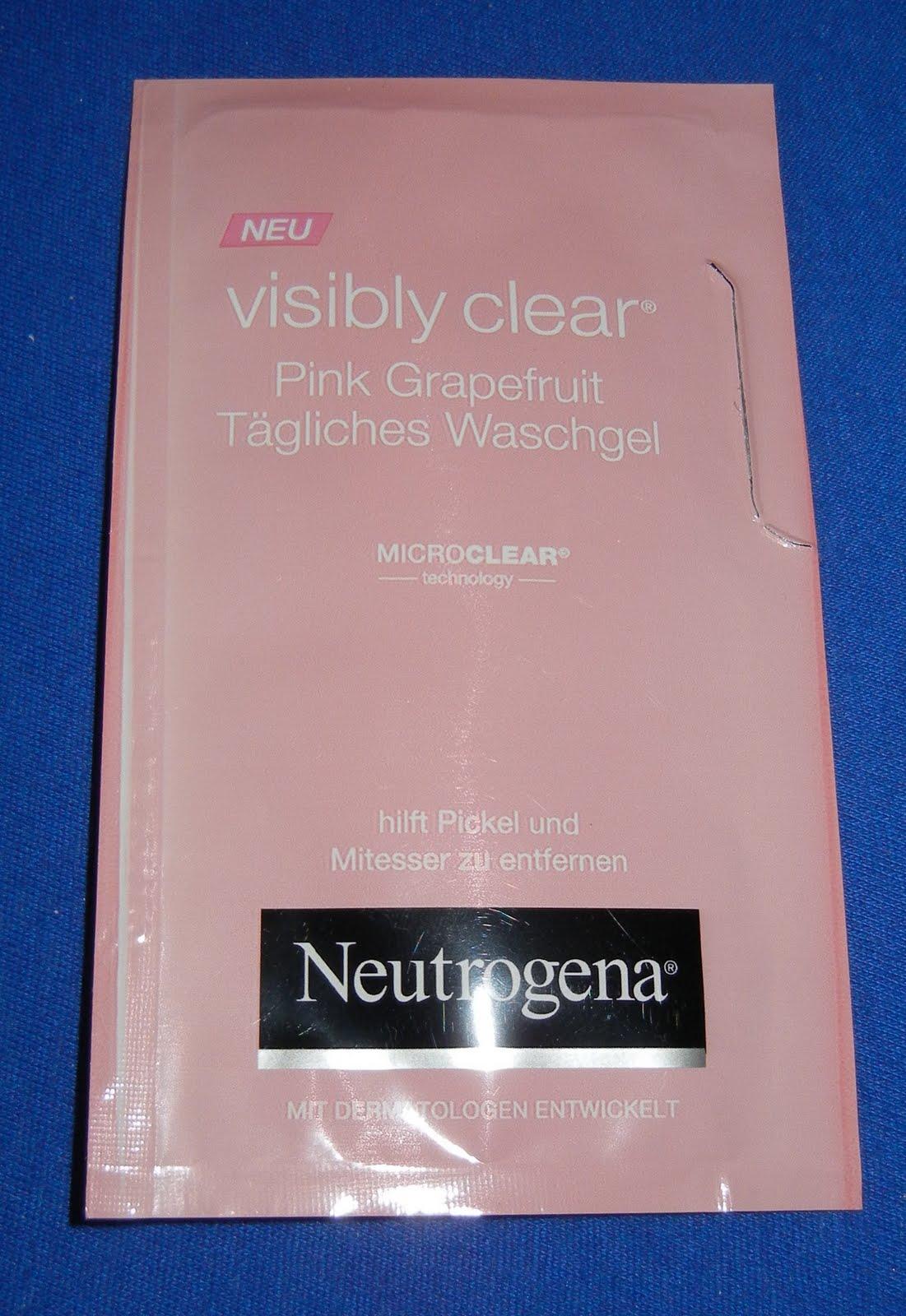 mellis testecke neutrogena visibly clear pink grapefruit t gliche waschcreme und waschgel getestet. Black Bedroom Furniture Sets. Home Design Ideas