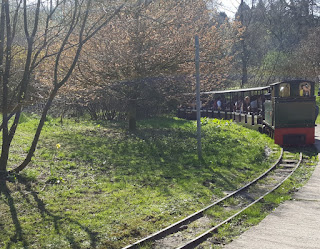 Miniature Railway at Haigh Woodland Park in Wigan