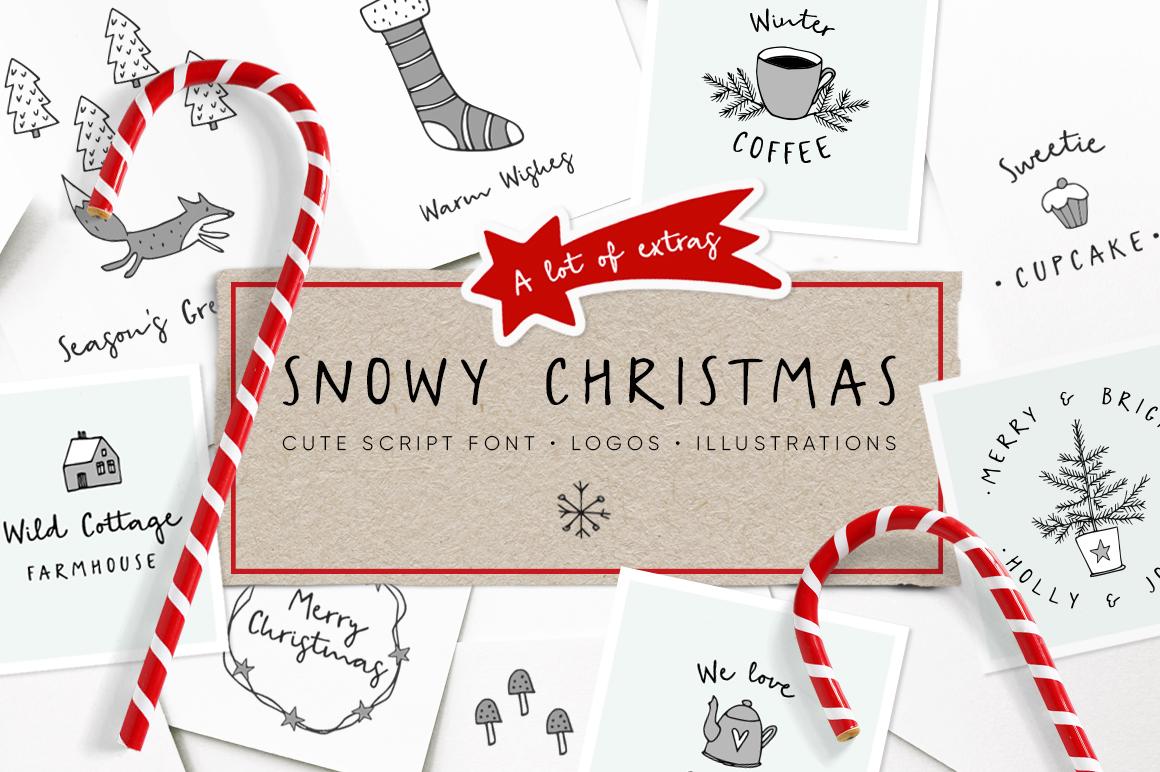 SNOWY CHRISTMAS SCRIPT FONT - Tabita's world
